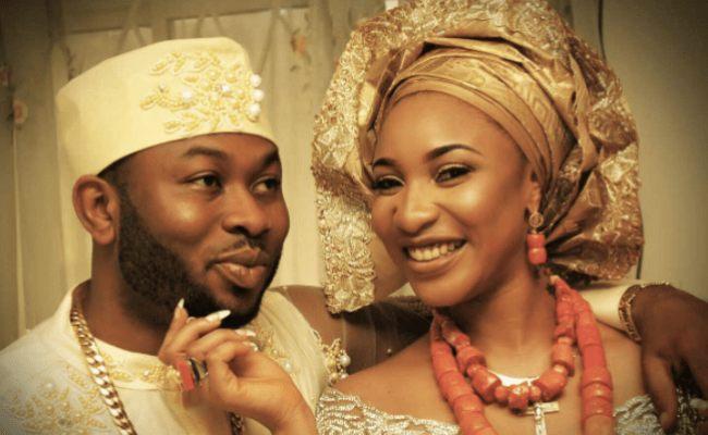 Tontolet & her ex-husband Olakunle Churchhill
