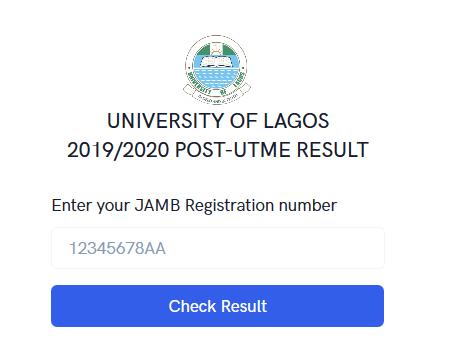 University of Lagos Post-UTME result