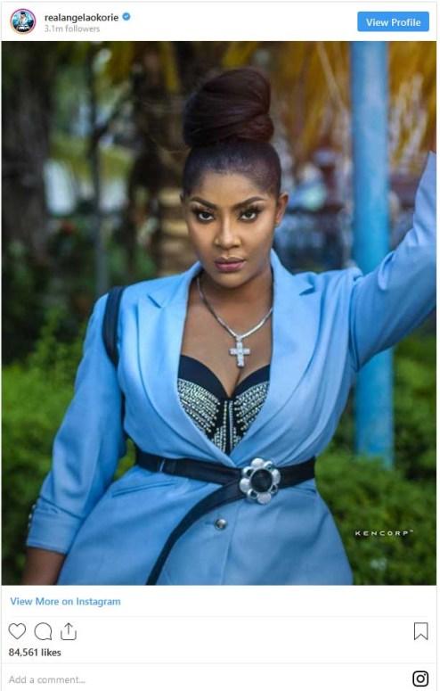 Angela Okorie purple gown