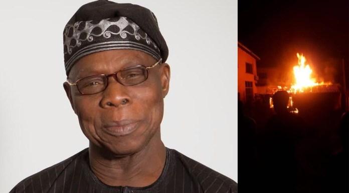 President Olusegun Obasanjo house fire