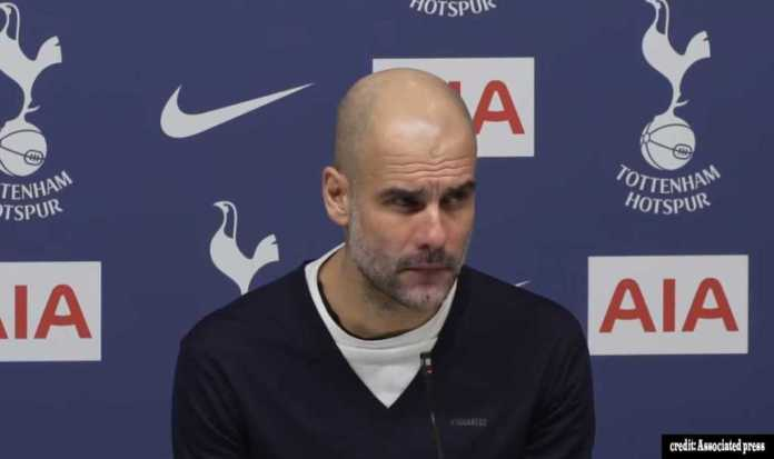 Guardiola's reaction to loosing to tottenham