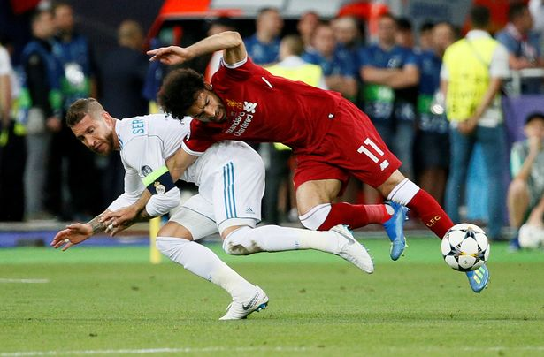 Ramos knew he'd break Salah's hand with this tackle