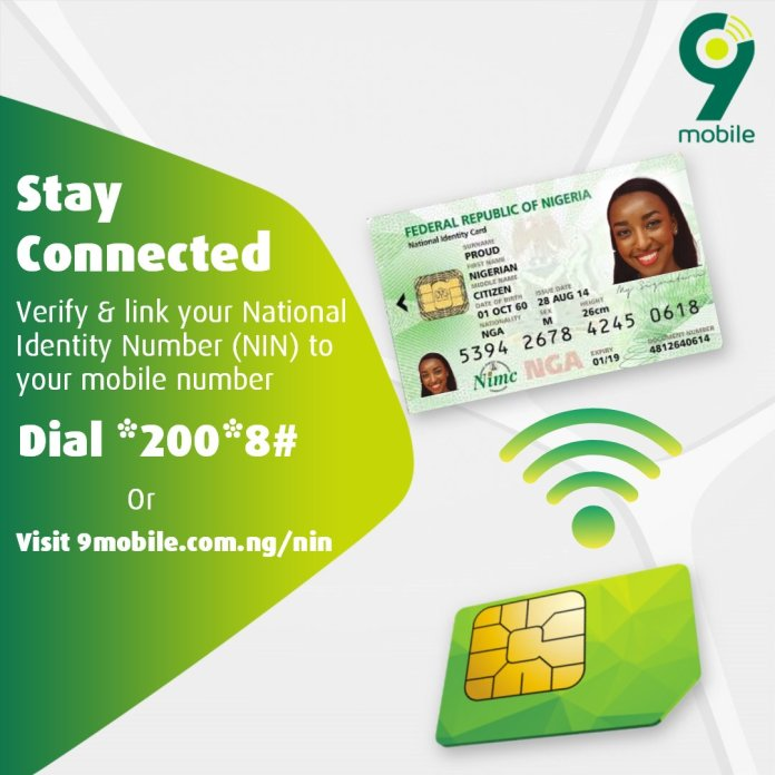 How to link 9Mobile phone number with NIN.