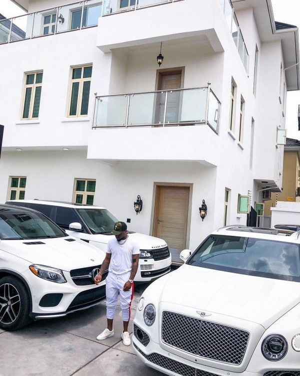 Davido shows off his 2016 Mercedes-Benz GLE 450 and some of his other luxury white cars