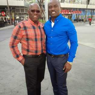 oooo Kenny Ogungbe And Dayo Adeneye At The Staples Centre For The Grammys [Photo]