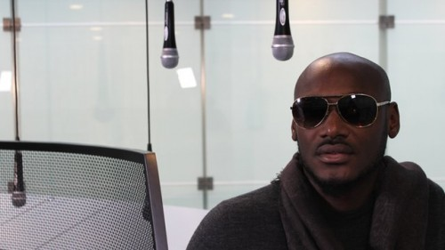 ENT 2face idibia1NL 500x281 2face Gets Customized Microphone From Luxury Designer, Malivelihood [Photo]