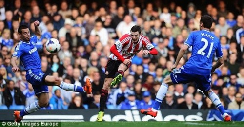 1397926928112 lc galleryImage LONDON ENGLAND APRIL 19 A 500x261 [Video] Chelsea 1   2 Sunderland [Premier League] Highlights