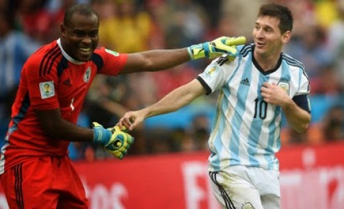 Enyeama Messi NL Brazil 2014: Nigerias Enyeama Makes 4th Place Amongst Top 10 Goalkeepers [See Full List]