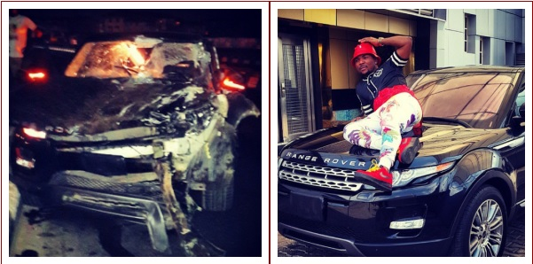 oritsefemi TOO BAD!! Singer Oritsefemi Wrecks His 2014 Range Rover? (Photo)