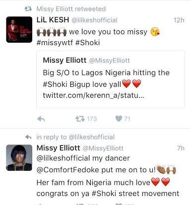 Missy Elliot Tweet Lil Kesh