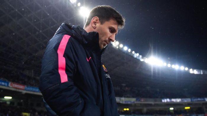Messi-unhappy