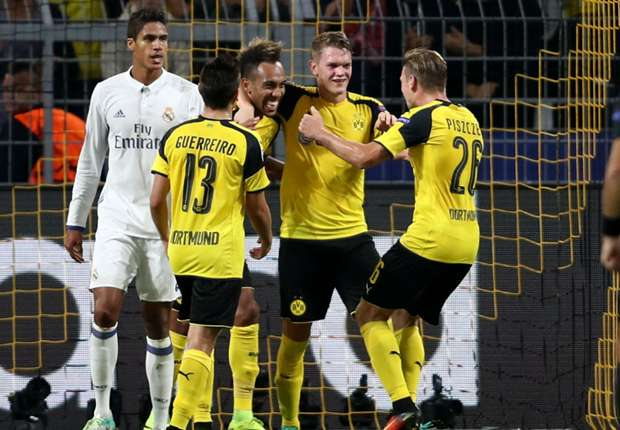 Image result for UEFA Champions League Round Up:Borussia Dortmund hold Real Madrid, Leicester City defeated Porto