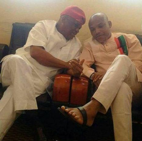 Breaking News: Forget Biafra Orji Uzor Kalu Visits Nnamdi Kanu In Prison (Photo)