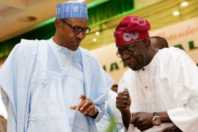 Buhari and Tinubu 700x467 - 2019 Election: Reject Buhari Now, He Will Hand Over To Tinubu – Group Tells Igbos