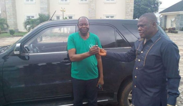 Image result for Innocent Chukwuma with man who prophesied about his sucess