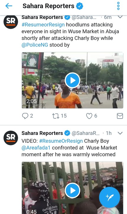 5 9 - Buhari Supporters Attack Charly Boy At Wuse Market, Destroy Cars [Video/Photos]