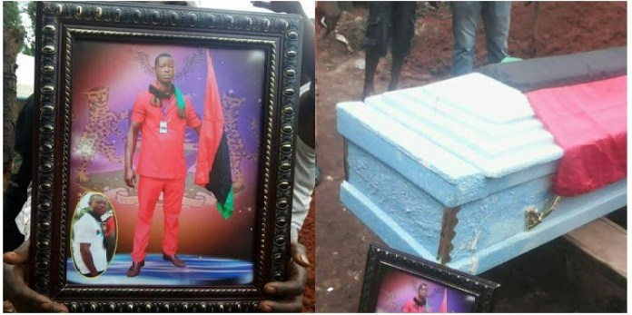 1 181 - IPOB Member Killed During Military Invasion In Abia Finally Laid To Rest (Graphic Photos)