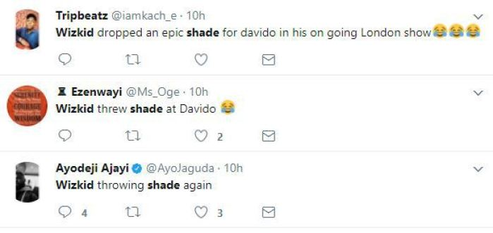 1 195 - OMG!! See How Wizkid Shades Davido At His London Concert (Read FULL Gist)
