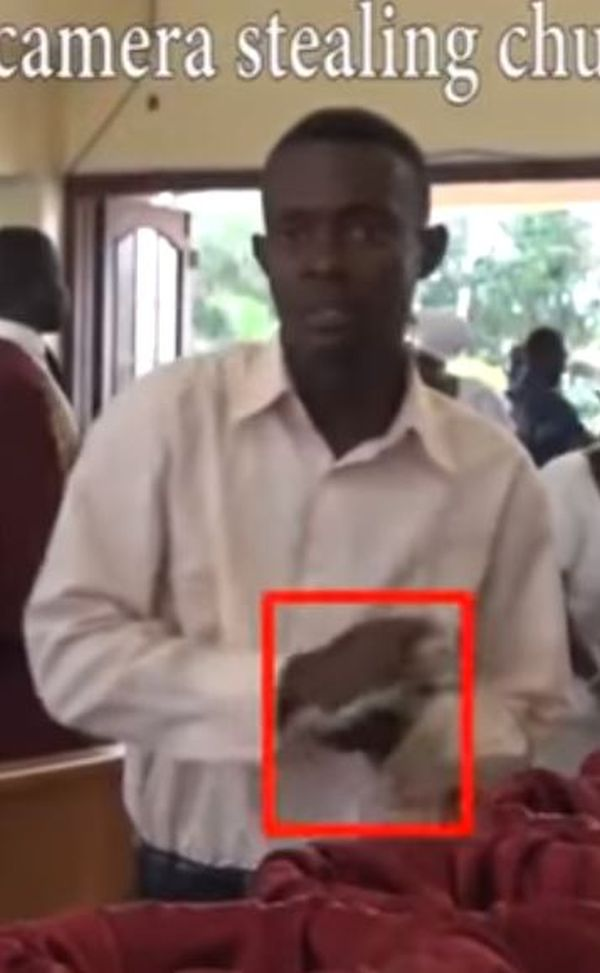 3 78 - Man Caught On Camera Stealing Money From Church's Offering In Ghana (Photos + Video)