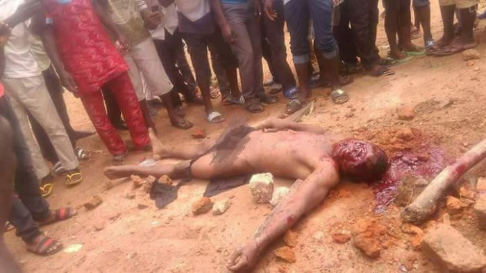 3 81 700x394 - OMG!! These 2 Men Were Stoned To Death In Benue, For Stealing Motorcycles [Warning: Graphical Photos]