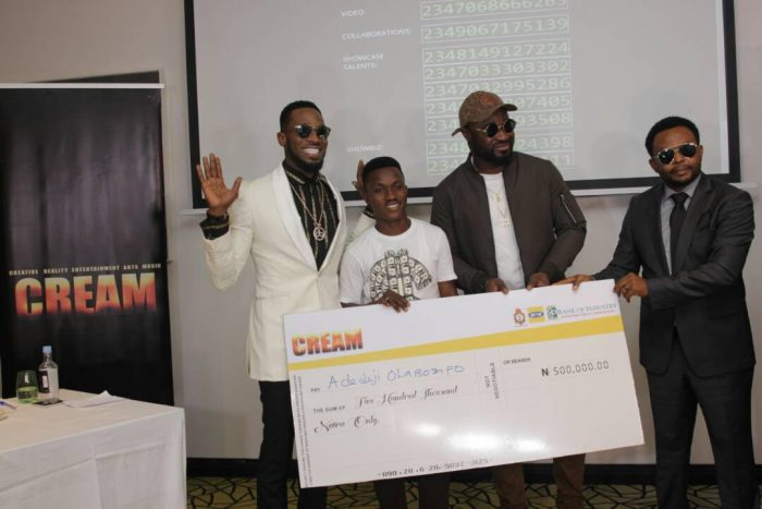 CREAM4 700x467 - D'banj Gives Out Million In Naira To Winners As Cream Platform Celebrates 1 Year Anniversary (See Photos)