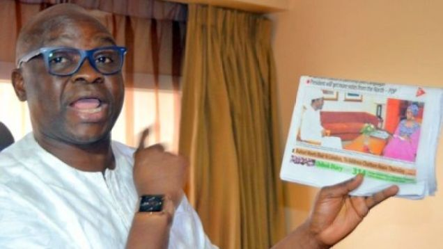 Fayose 1 750x400 - Those I Will Arrest When I Become President – Fayose (See Who & Who He Wants To Arrest)
