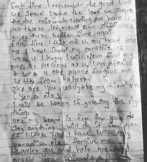 asd 4 tile - Ehn Ehn!! Checkout This Love Letter A 12-Year-Old Boy Was Seen Writing (See Letter)