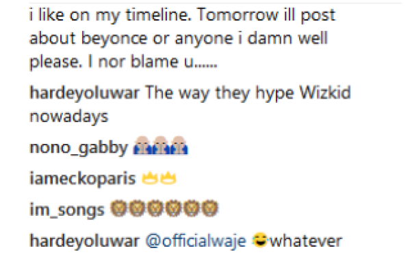 waje4 - Waje Slams A Davido's Fan Over Wizkid (See What She Said)