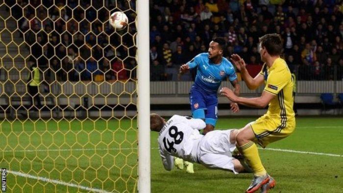 walcoot 700x394 - Europa League:- BATE Borisov 2 – 4 Arsenal (See All Goals Highlight)