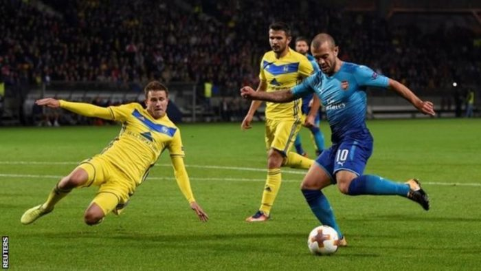 wils 700x394 - 'Jack Wilshere Is On His Way Back To His Very Best'- Arsenal Boss Arsene Wenger Says After Europa League Win