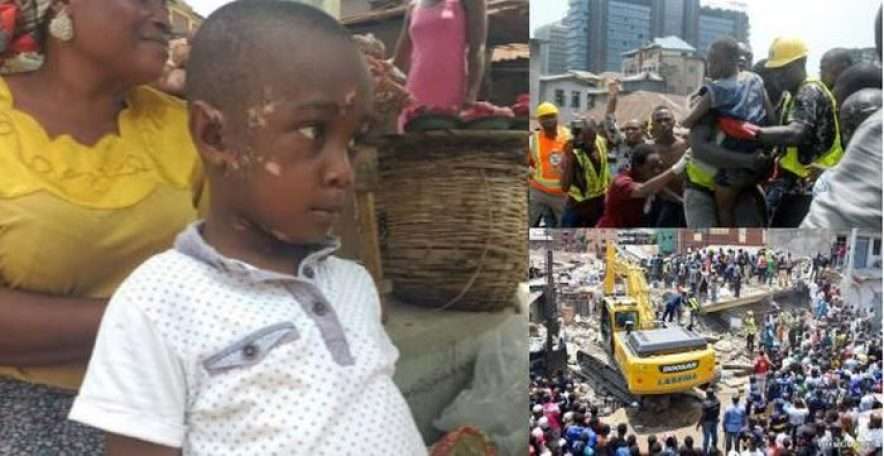 """""""I'm Afraid To Go To School Again"""" – Little Boy Who Survived Lagos Building Collapse 2"""