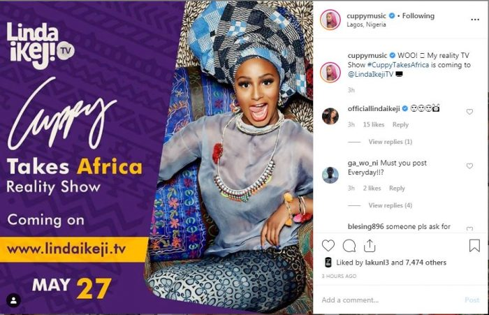 Cuppy Takes Africa! DJ Cuppy To Start Her Own Reality TV Show