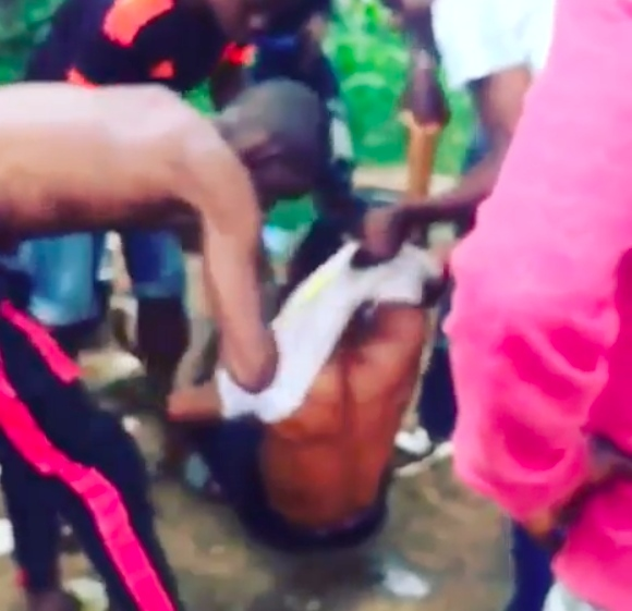 SAY NO TO DRUG ABUSE!! Young Man Runs 'Mad' After Taking Synthetic Weed In Lagos (Watch Video)