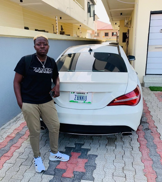 See Zlatan Ibile's Beautiful Girlfriend As She Shows Off Their New Baby