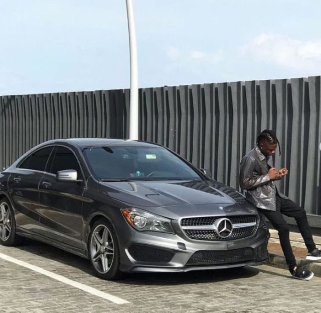 Lil Kesh Acquires Brand News Luxury Mercedez Benz Car (Photo)