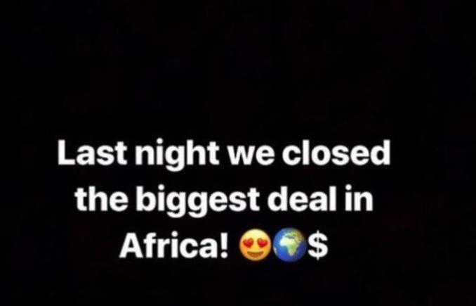 """We Signed The Biggest Deal In Africa"" – Wizkid Reveals"