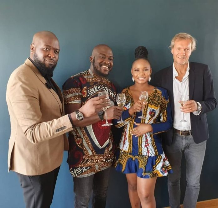 Image result for photos of yemi alade signing deal with universal music