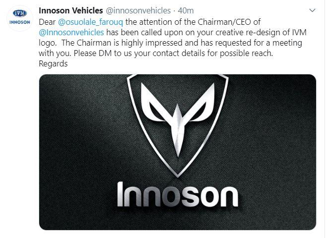 Innoson Motors Chairman Invites Man Who Re-Designed Innoson Logo 4