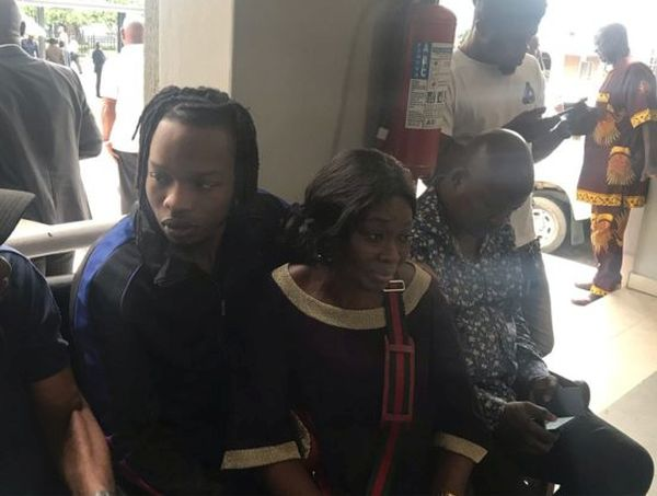 Naira Marley Pictured With Mum At Ikoyi High Court  (See Photos)