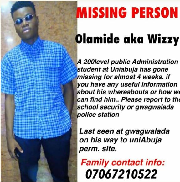 This University Of Abuja Student Has Been Missing For 4 Weeks (Photo) 1