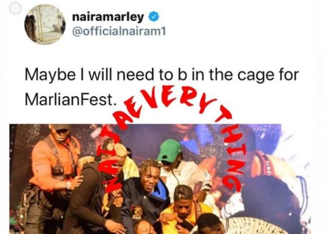 Naira Marley Set To Perform In A Cage At His Upcoming Concert (Photo) 1
