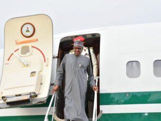 President Buhari Returns To Nigeria From Egypt