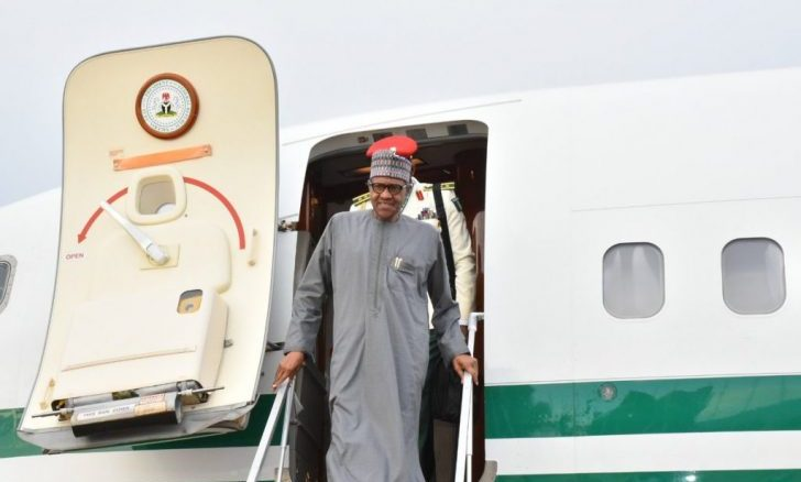 President Buhari Returns To Nigeria From Egypt