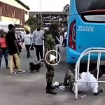 Soldier descends on young man for putting on Camouflage shorts to event in Lagos. (Video)
