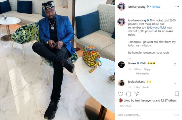 """""""This My Jacket Costs 2300 Pounds"""" – Harrysongs Says As He Shades Timaya 7"""