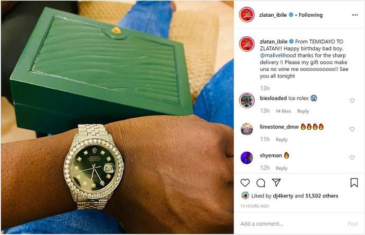 Zlatan Buys Himself A Crusted Rolex As Birthday Gift (See Photo) 4