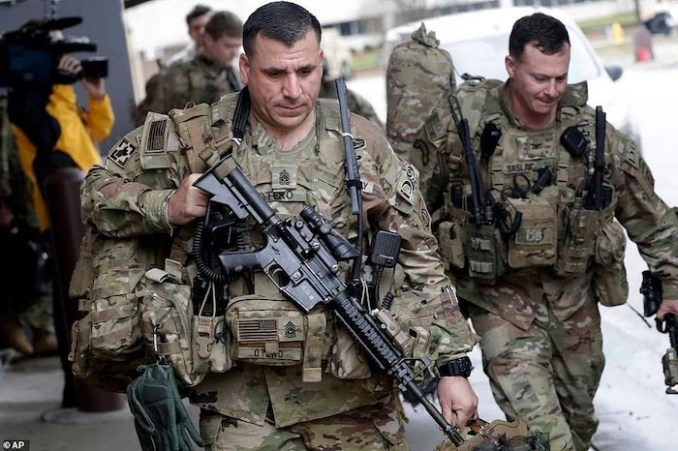 WORLD WAR 3!See Photos Of The 3000 US Soldiers Deployed To Iran After Soleimani's Death 1