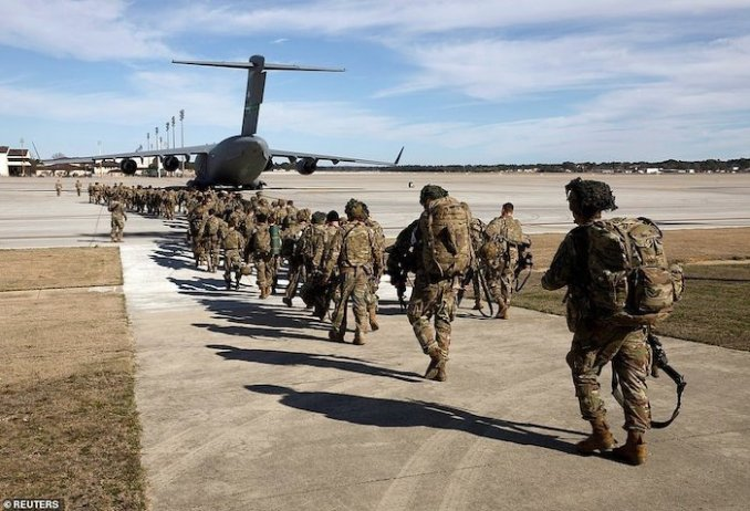 WORLD WAR 3!See Photos Of The 3000 US Soldiers Deployed To Iran After Soleimani's Death 7