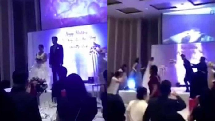 Huh!!! Husband Shock Wedding Guests With Videos Of Bride Cheating With Her Pregnant Sister's Husband (Video) 2