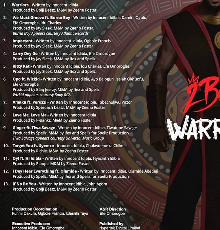 Image result for 2Baba to drop first album in five years, Warriors